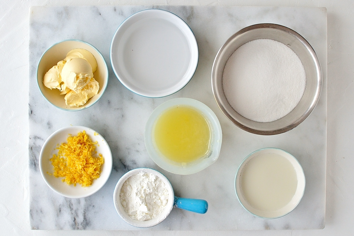 Vegan lemon curd ingredients