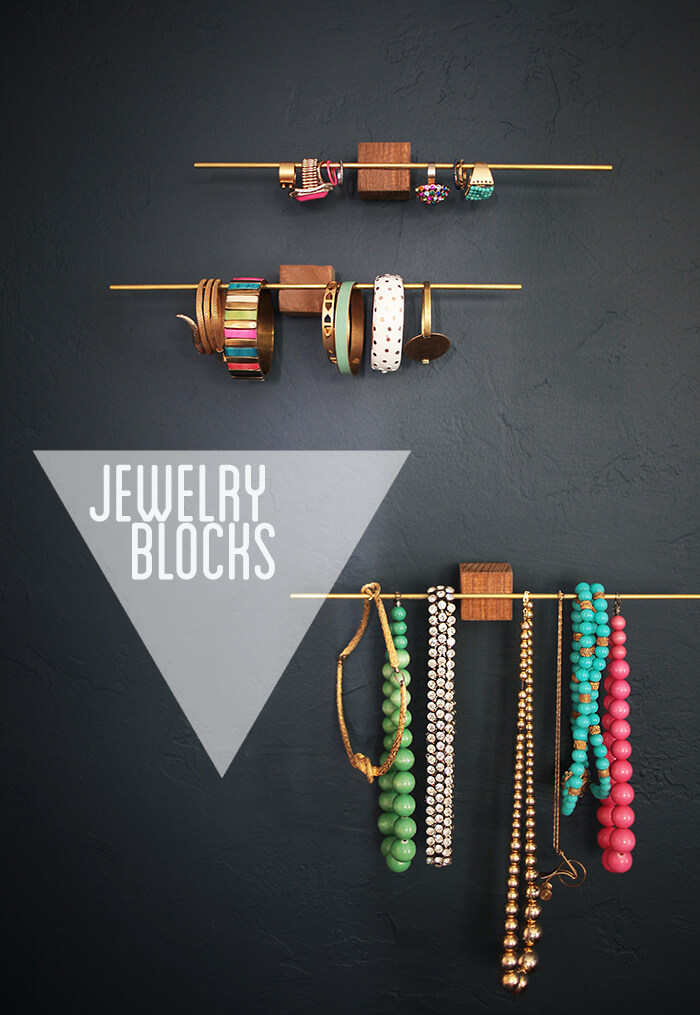 Wood jewelry blocks diy
