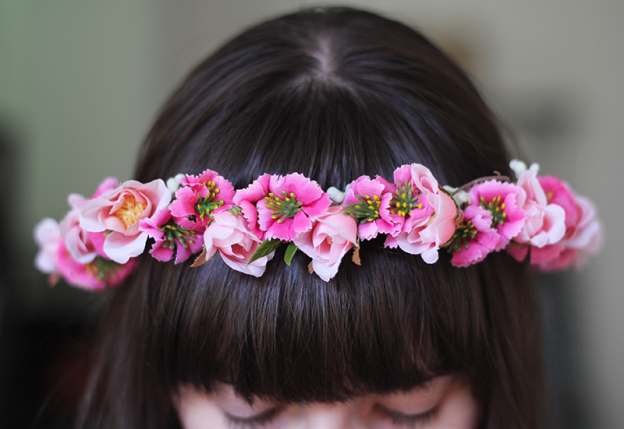 3 step flower crown diy