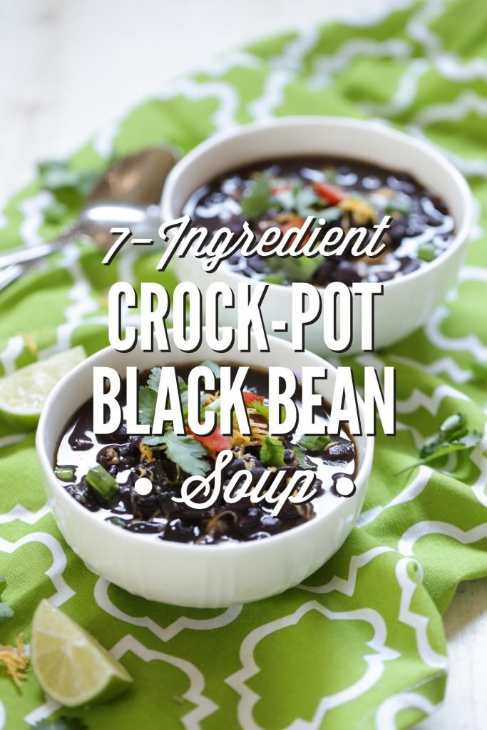 7 ingredient crock pot black bean soup 683x1024