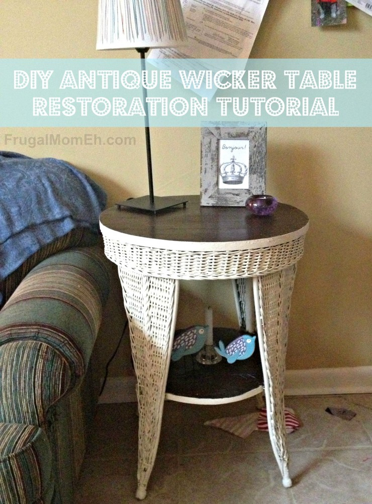 Antique wicker table restoration