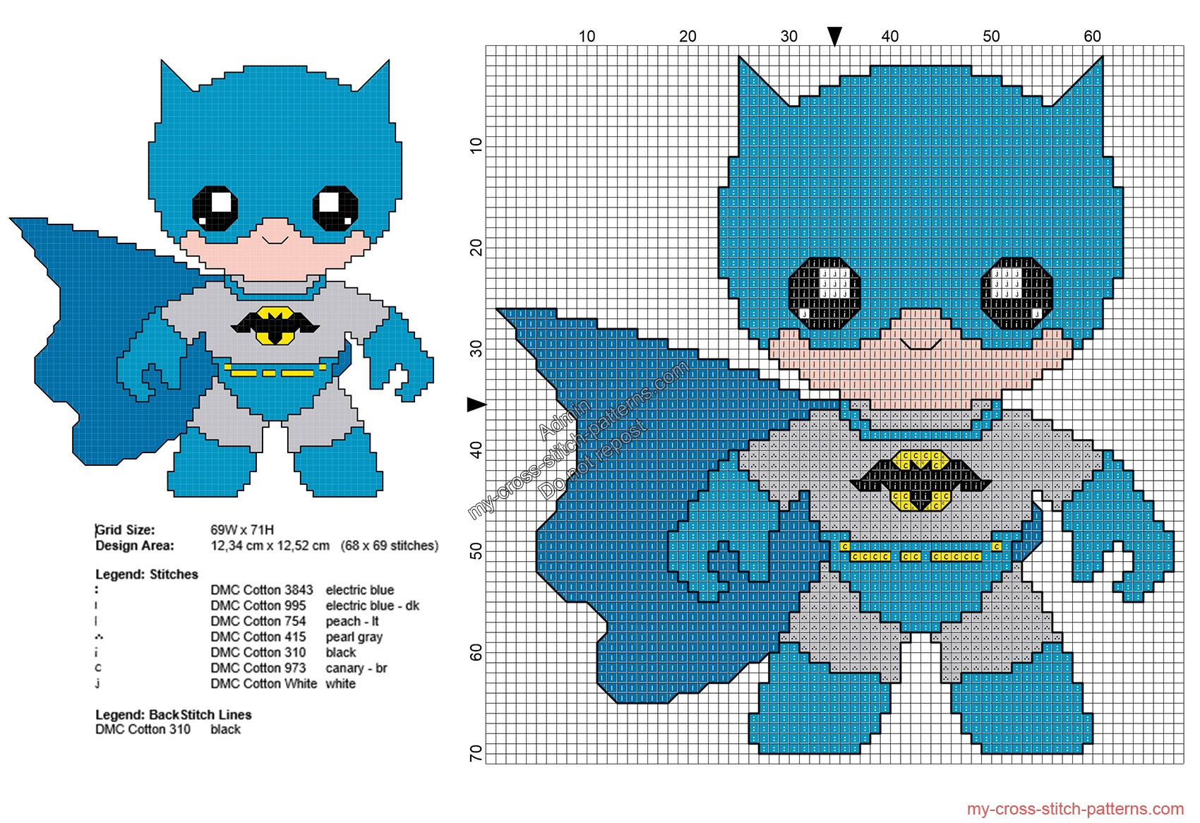 Baby batman pattern