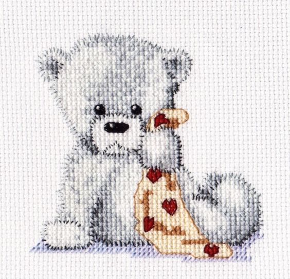 Bear and blankie pattern