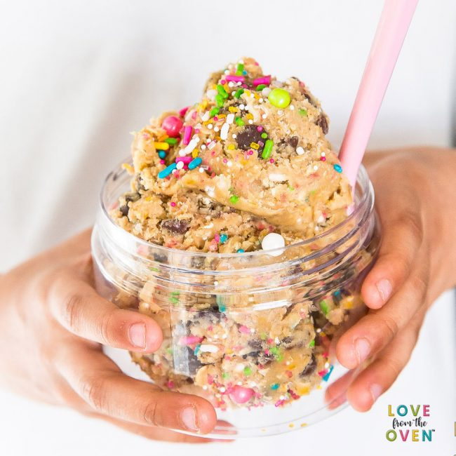 Cookie dough to go unicorn recipe
