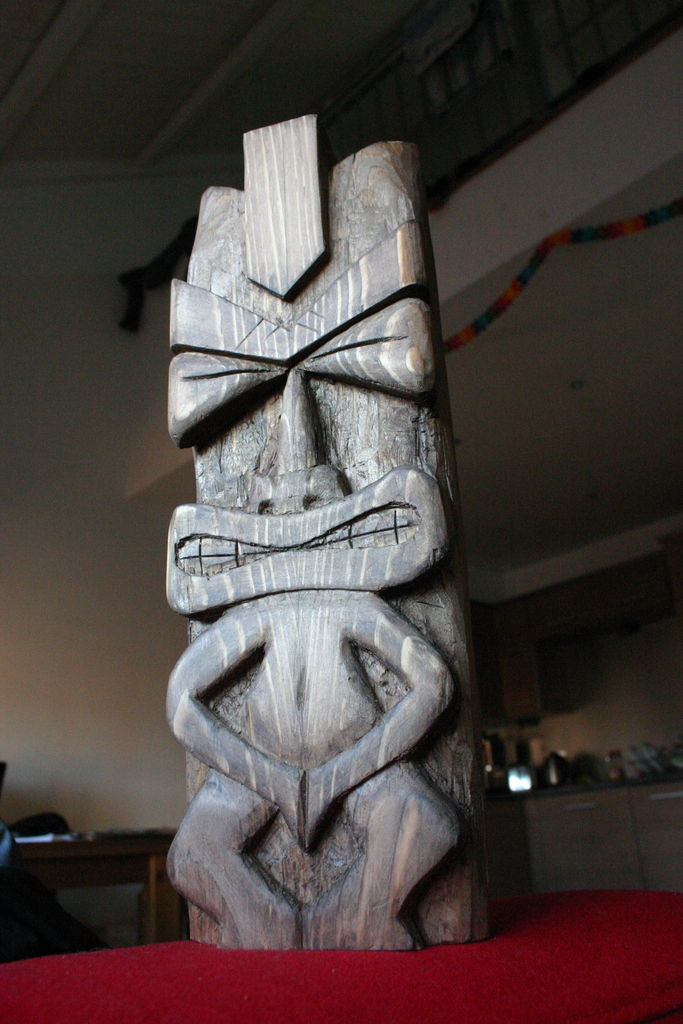 Chisel carved tiki doll