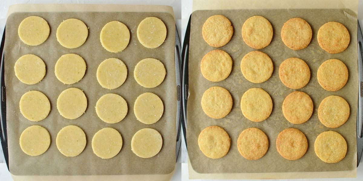 Coconut lime shortbread cookies bake