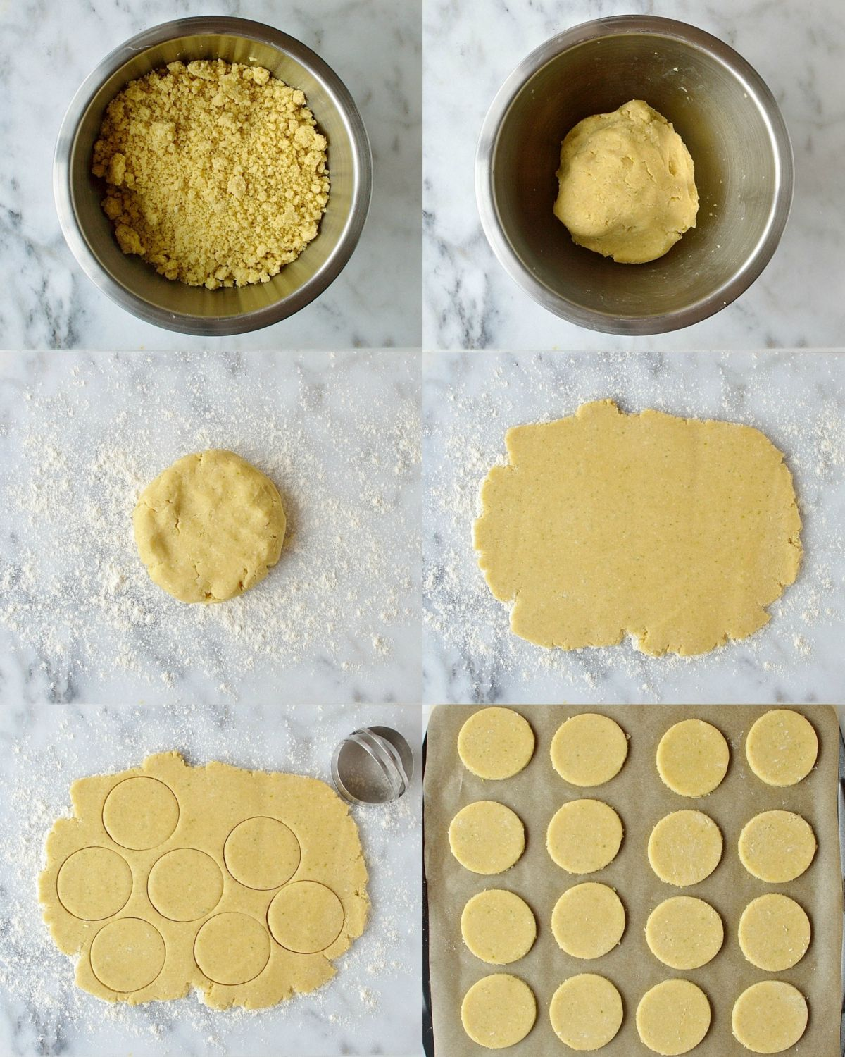Coconut lime shortbread cookies step 2