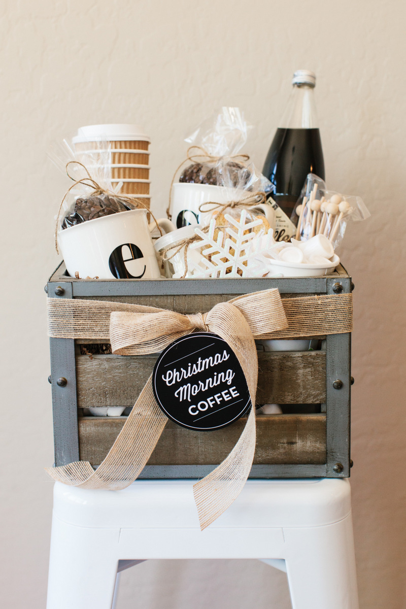 Coffee gift basket diy
