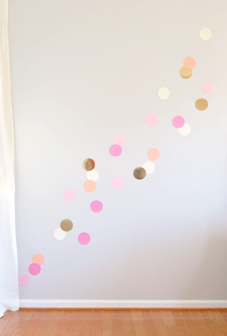 Colorful party confetti wall