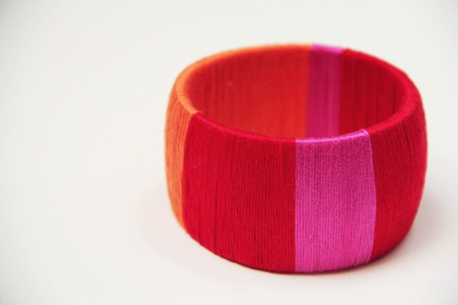 Colour blocked wrapped bangle