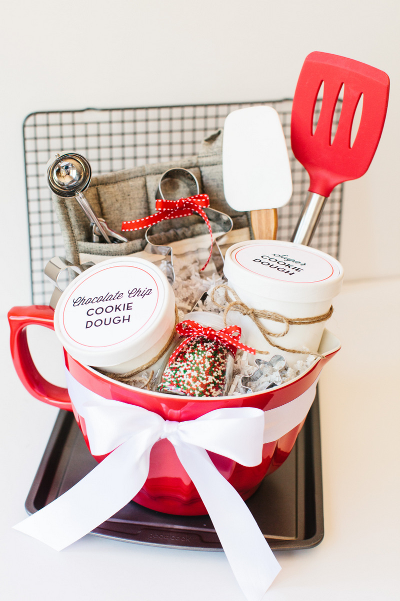 holiday cookie gift basket cookie dough basket diy