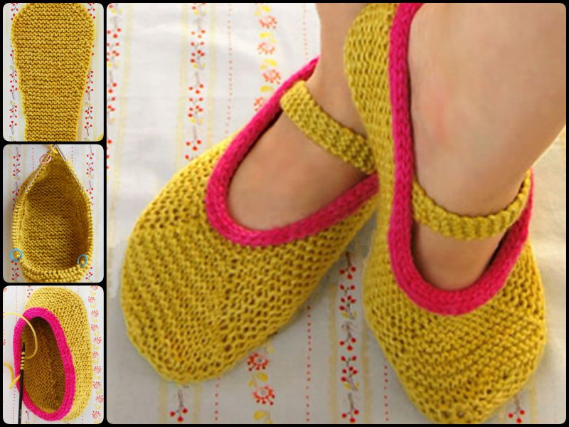 c723a311a04 15 Knitted Slipper Sock Patterns