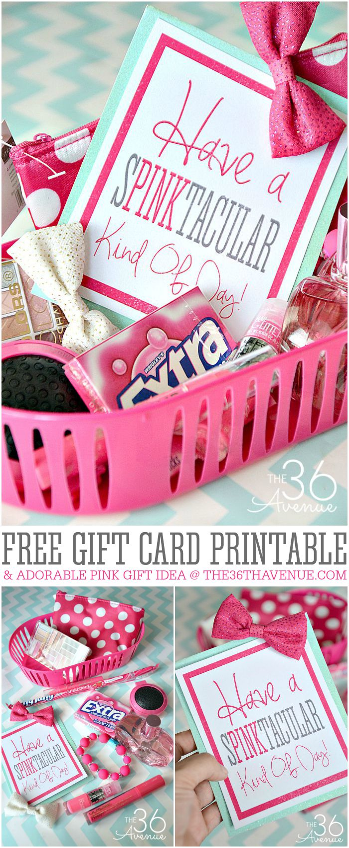 Diy all pink gift basket