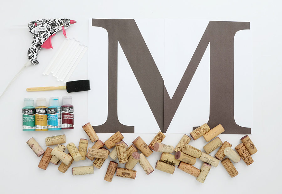 Diy cork monogram 1