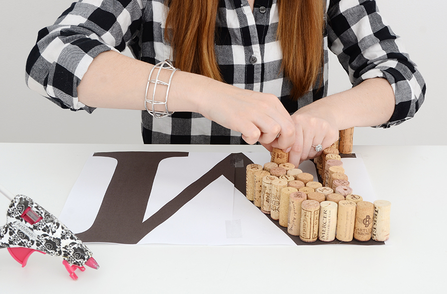 Diy cork monogram 4