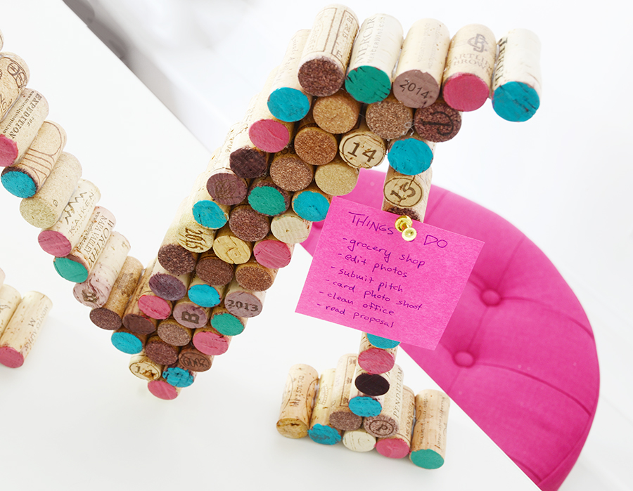 Diy cork monogram 6