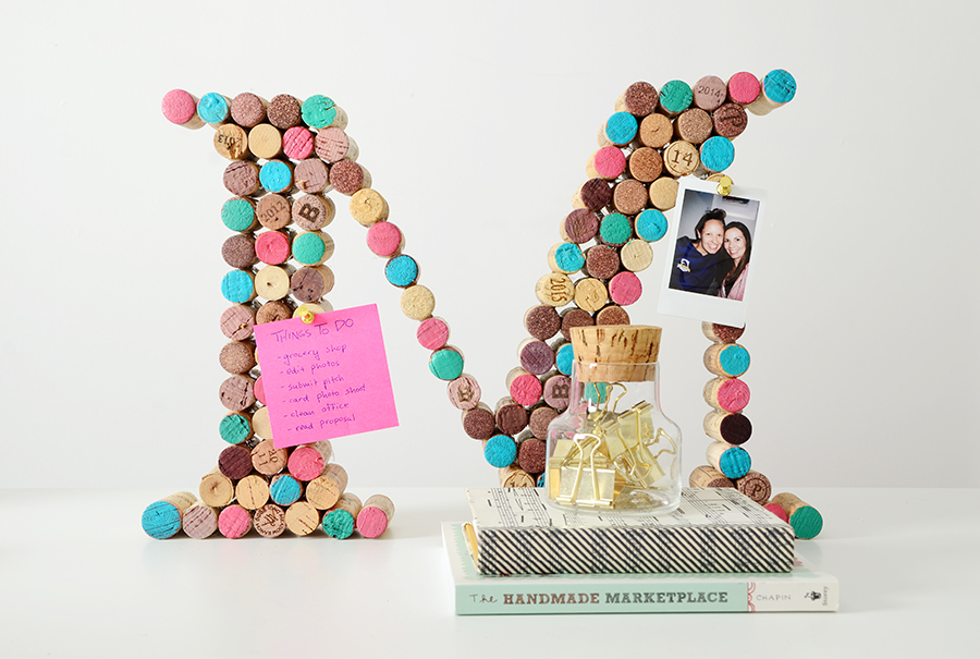 Diy cork monogram 7