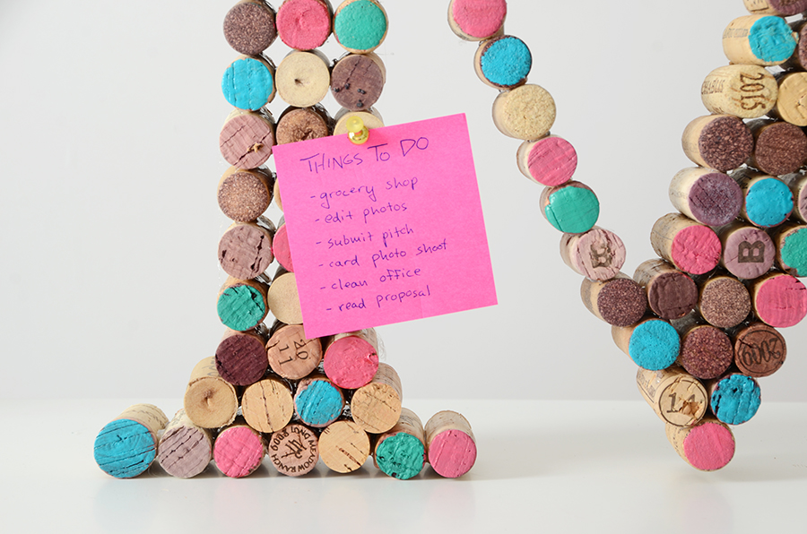 Diy cork monogram 8