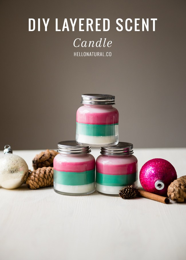 Diy layered scented holday candles