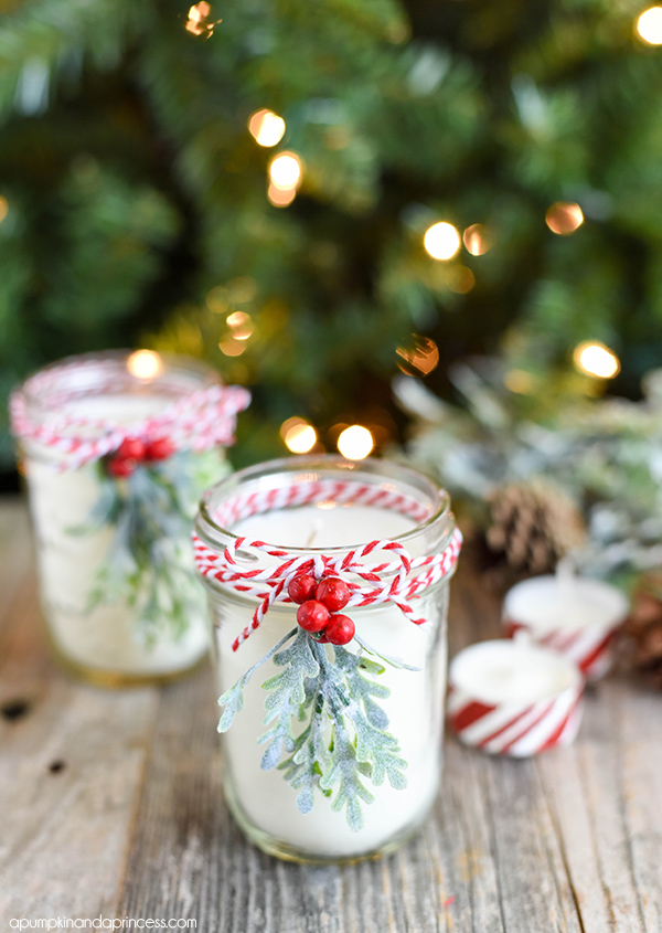 Diy peppermint candle