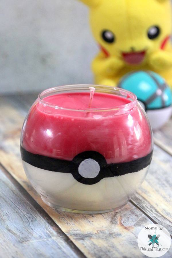Diy pokeball candles