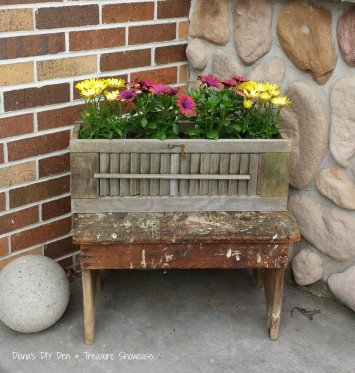 Diy shutter flower box