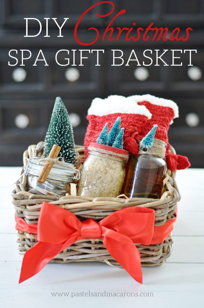 Diy spa gift basket handmade christmas gift