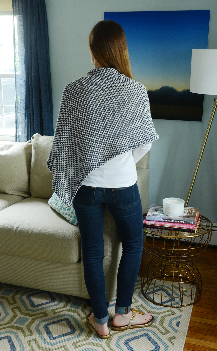 Diy spring knit wrap 7