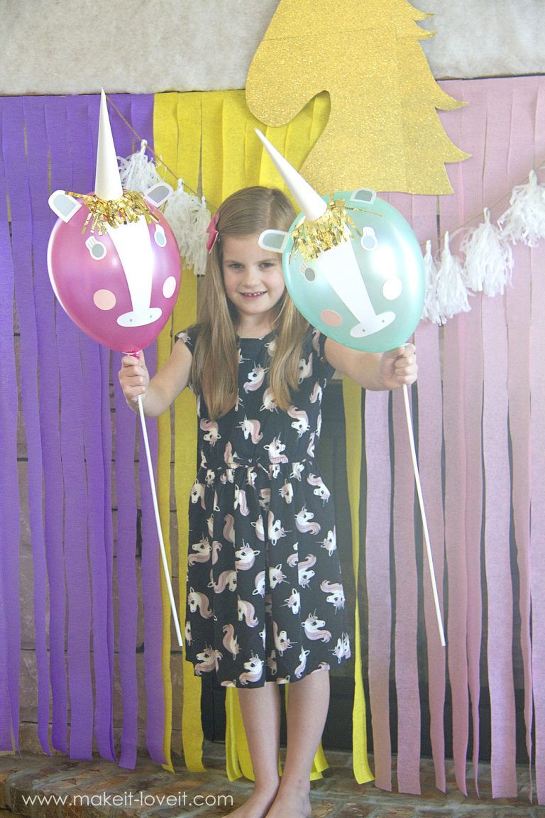 Diy unicorn party balloons