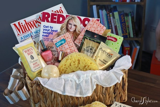 Diy girls night gift basket