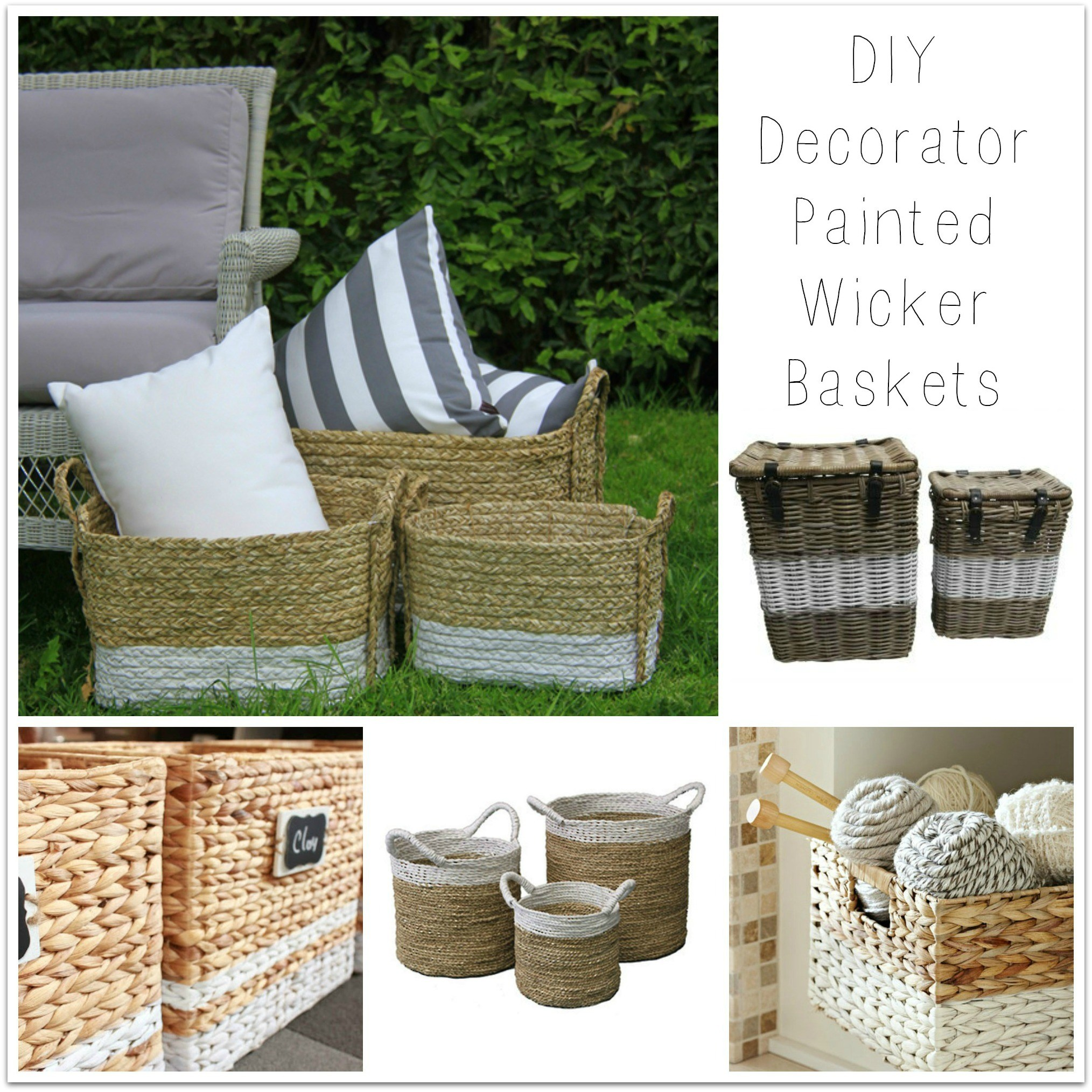 Diy painted wicker storage baskets