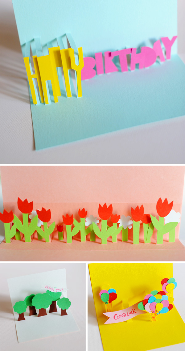Diy pop up tulip cards