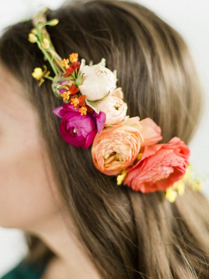 Diy summer floral halo