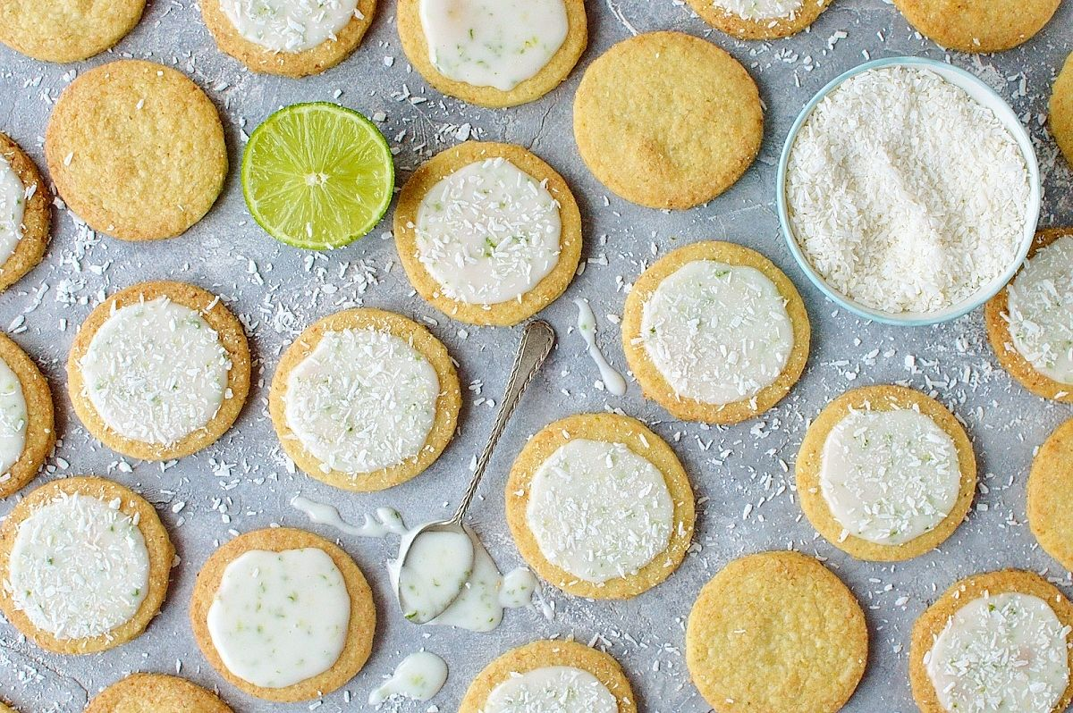 Delicious coconut lime shortbread cookies