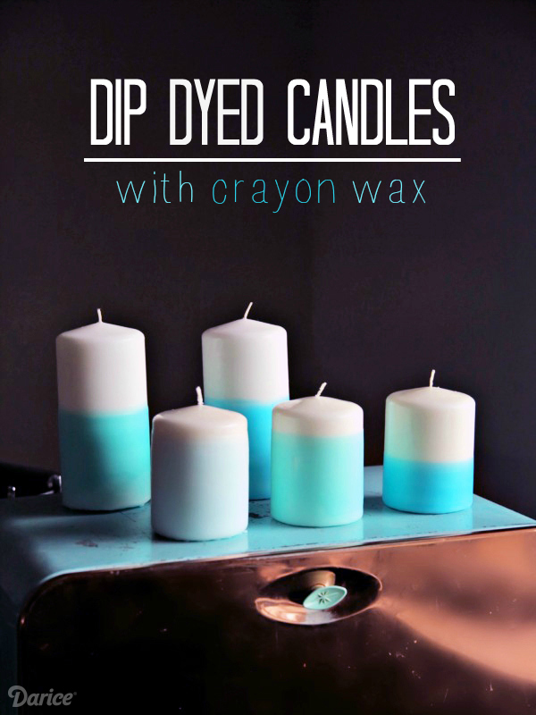 Dip dyed candle diy