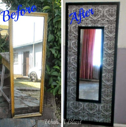 Door and wallpaper mirror frame