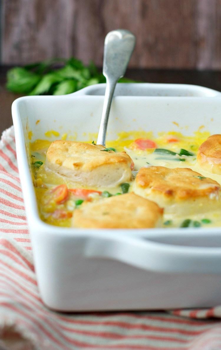Dump and bake chicken pot pie casserole 9