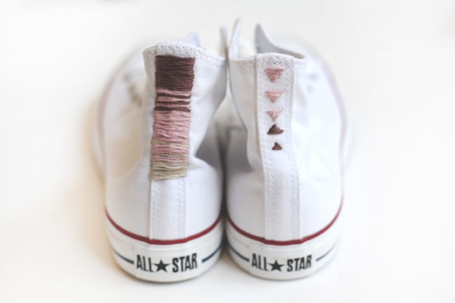 Embroidered chuck taylors