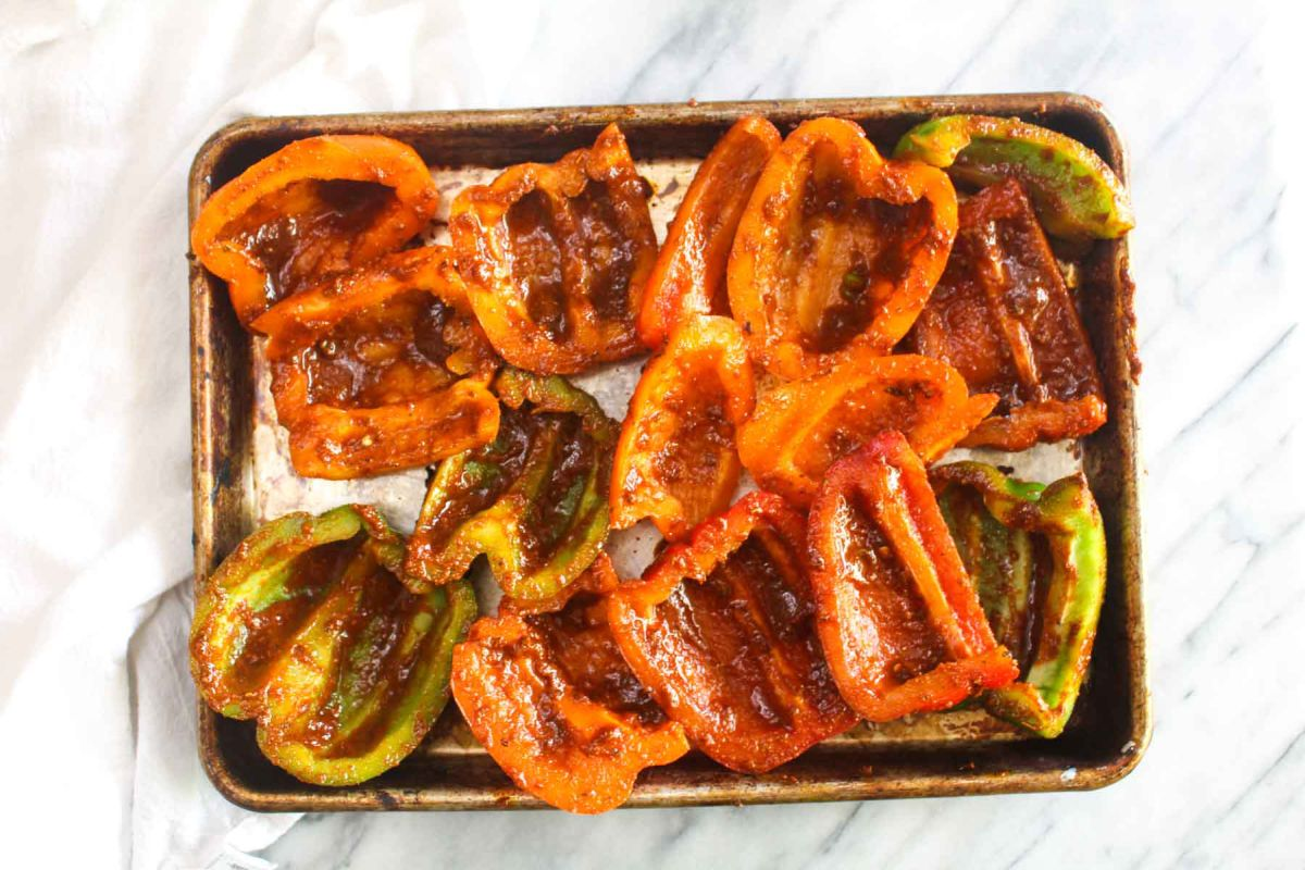 Grilled veggie fajita bowls bell pappers