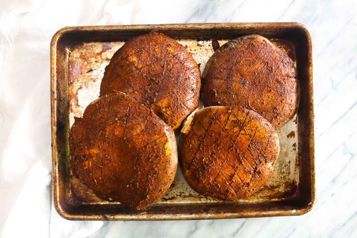 Grilled veggie fajita bowls rub the spice paste