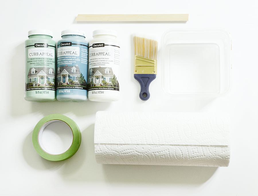 How to paint an exterior door materials