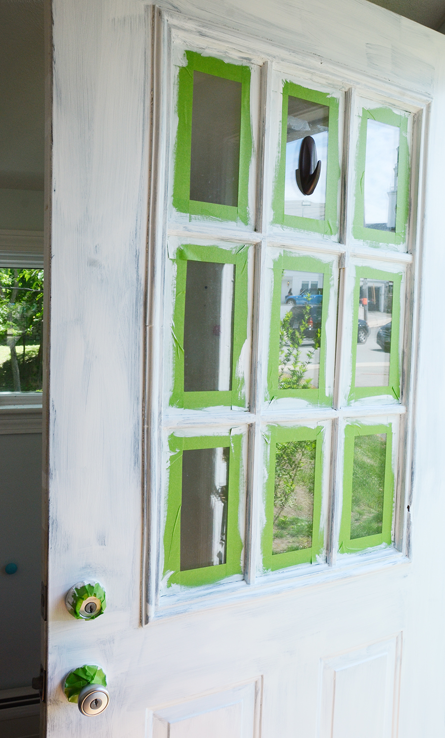 How to paint an exterior door after white primer