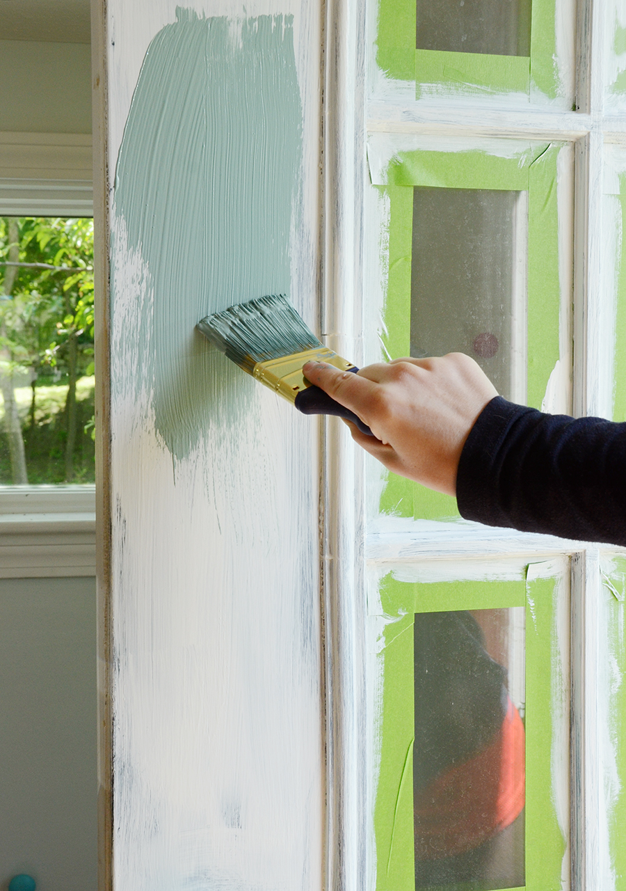 How to paint an exterior door apply the colored paint