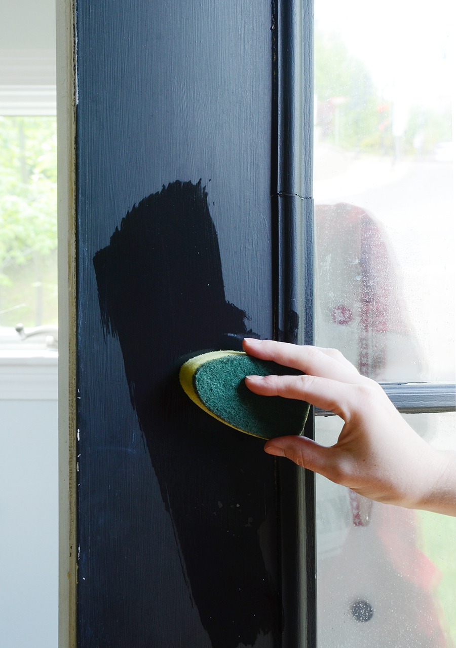 How to paint an exterior door cleaning process