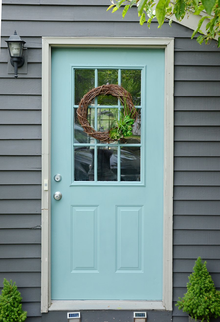 How to paint an exterior door drying process
