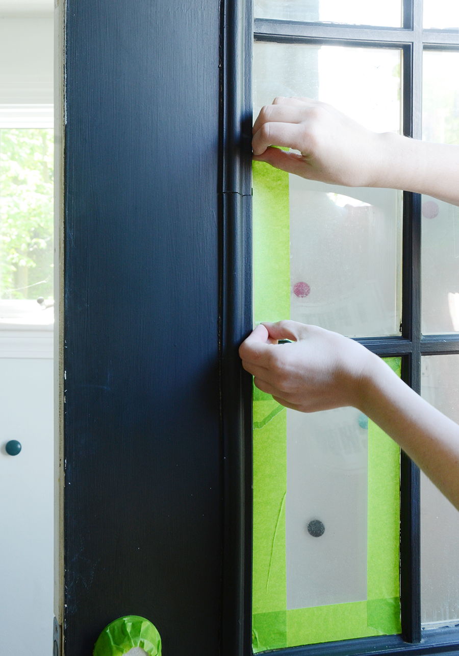 How to paint an exterior door painting tape