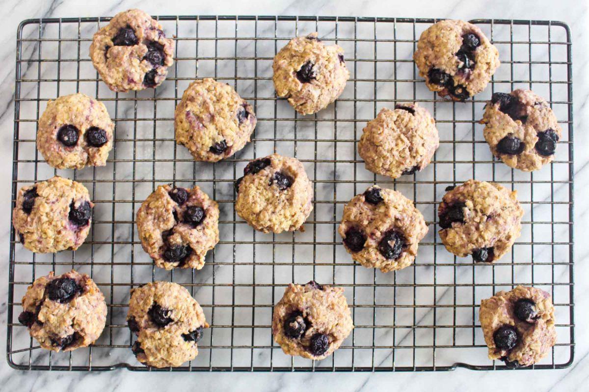 Lemon blueberry breakfast cookies bake for 25 30 minutes