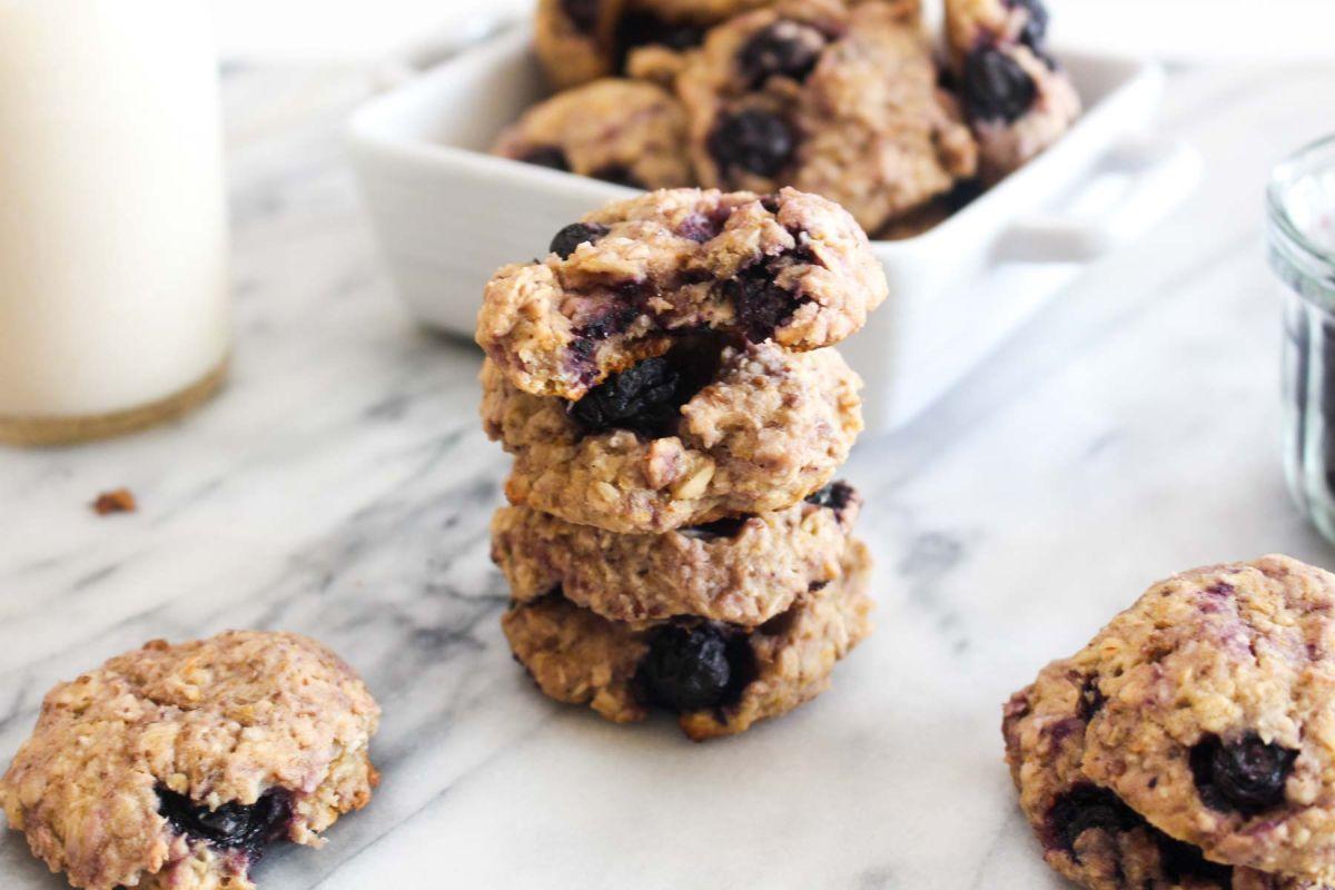 Lemon blueberry breakfast cookies for sunday