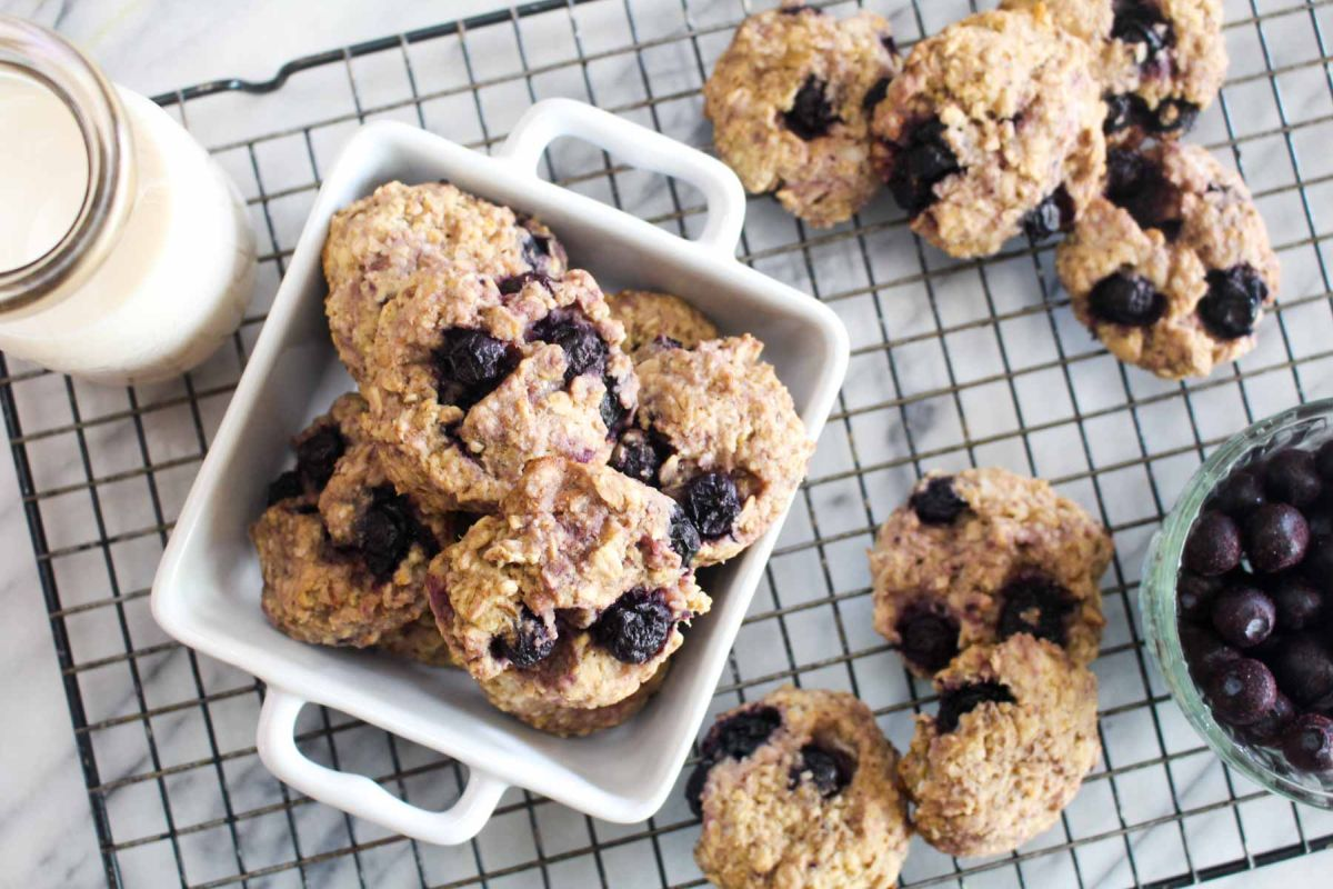 Lemon blueberry breakfast cookies