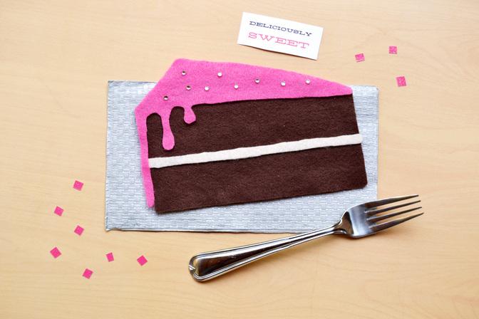 No sew felt air fresheners cake